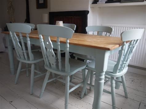 Painted Kitchen Furniture by Table And Chairs Duck Egg Blue Top Needs