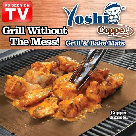 grill mat as seen on tv yoshi copper grill and bake mat as seen on tv gifts