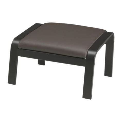 repose pied bureau ikea poäng footstool glose brown black brown ikea