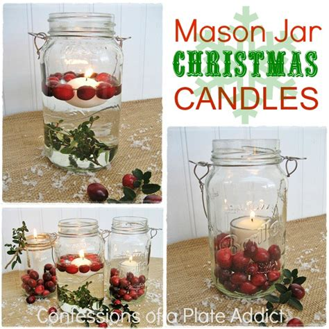 make christmas candles how to make mason jar christmas candles