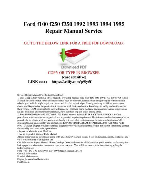 ford         repair manual