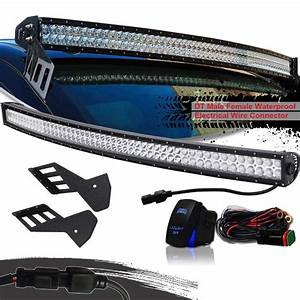 Turbosii 54 Inch Curved Offroad Led Light Bar W  Upper Roof