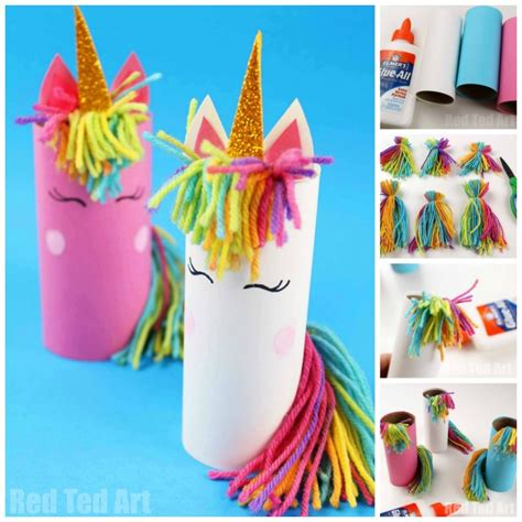 toilet paper roll unicorn for preschoolers ted 677   Unicorn crafts kids 3