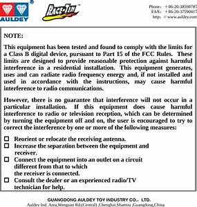 Auldey Toy Industry Ad297010 Rc Car User Manual