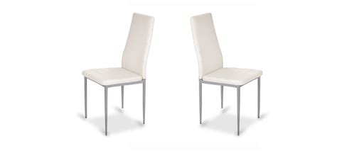 chaise de salle 224 manger blanche design et contemporaine