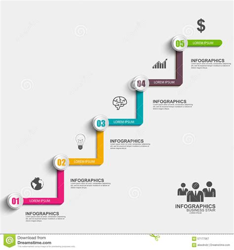 infographics business stair step success vector design