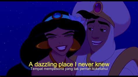 A Whole New World Lyrics subtitle Indonesia ( Aladdin 1992