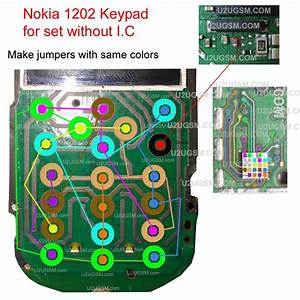 Free Kims Mobile Phone Solutions  Nokia 1202 1616 1661 Key Pad Ways Key Pad Jumpers Ic Ways