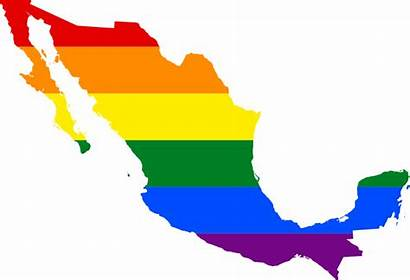 Mexico Lgbt Flag Svg Map America Silhouette