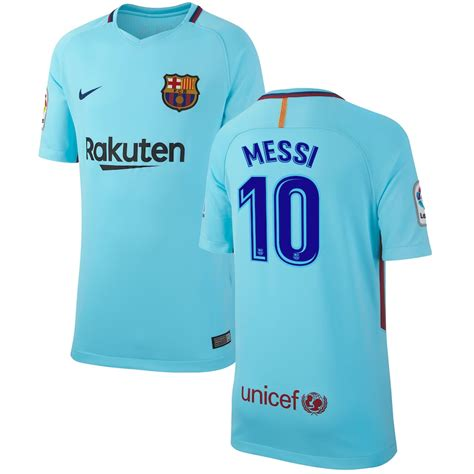 Nike Lionel Messi Barcelona Youth Blue 201718 Away