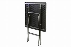 Gartentisch Rattan Optik : tisch in rattan optik balkontisch gartentisch 75 x 61 x 61 cm klappbar schwarz kaufen bei ~ Buech-reservation.com Haus und Dekorationen