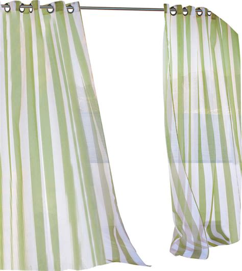 outdoor decor escape outdoor sheer stripe grommet top