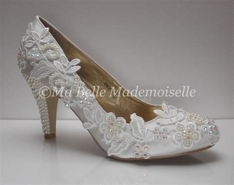 Ivory Lace Wedding Shoes Lace Wedding Shoes Lace Bridal