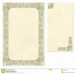 vintage letter paper and envelope stock vector image With letter paper frame