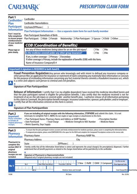 top  cvs caremark forms  templates
