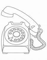 Telephone Coloring Phone Template Drawing Pages Printable Sketch Getdrawings Templates Getcolorings sketch template