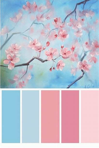 Cherry Blossom Flower Horizontal Blossoms Painting 4pint