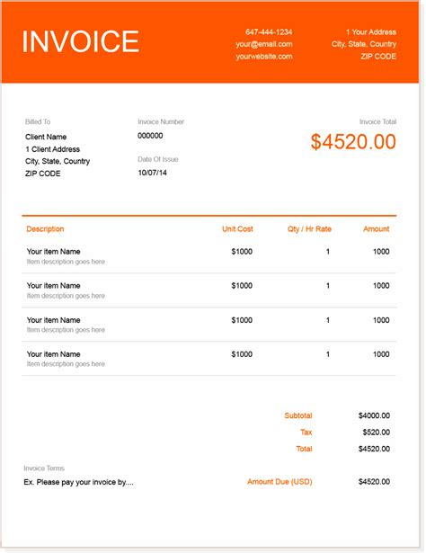 invoice template create  send  invoices instantly