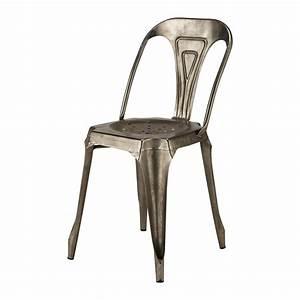 Chaise Tolix Maison Du Monde : chaise indus en m tal grise multipl 39 s maisons du monde ~ Melissatoandfro.com Idées de Décoration