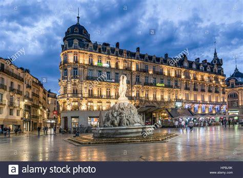 Place De La Comedie Three Graces Fountain Montpellier