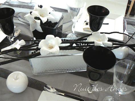 nuit des anges d 233 coratrice de mariage d 233 coration de table noir et blanc 009 photo de