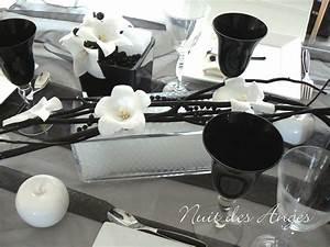 decoration de table noire et blanche nuit des anges With decoration noir et blanc