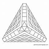 Pyramide Geometrycoloringpages Colorir Coloringhome sketch template