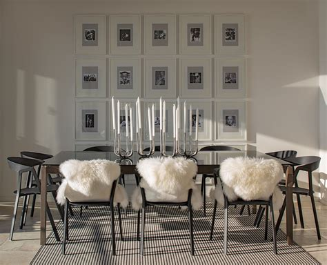 dining room window treatment ideas sheep skin rug dining room contemporary with modern