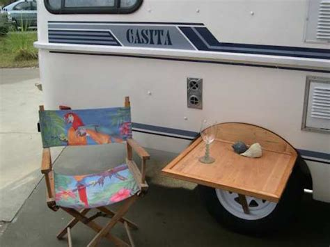 rv kitchen table parts outdoor table fits between wheel well and tire on casita