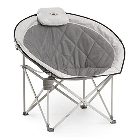 Folding Moon Saucer Chair by Folding Oversized Padded Moon Saucer Chair With