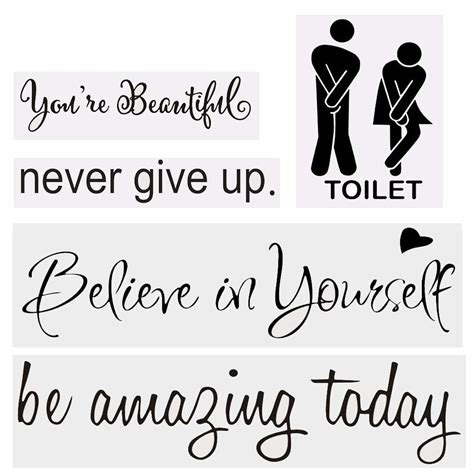 inspirational attitude wall quotes decals for