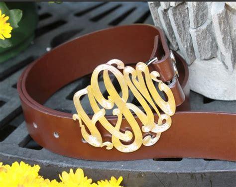pink monogram signature custom belt buckle
