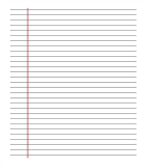 lined paper  print double sided