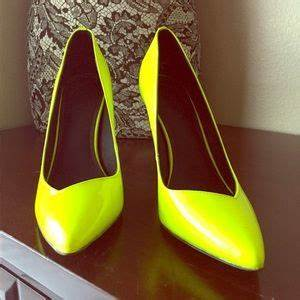 off Trouve Shoes Neon yellow heels from Nordstrom