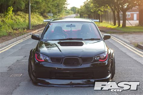 subaru cars black modified subaru impreza wrx fast car