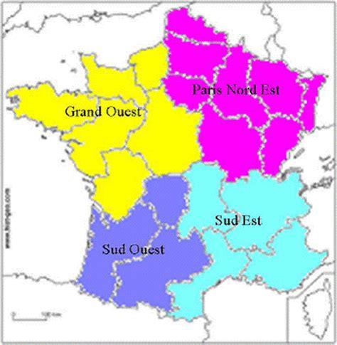 carte de france nord sud est ouest