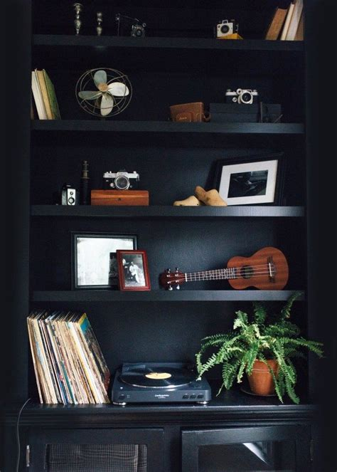 sunday brunch black feature wall black interior design