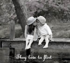 Children in Love Kissing