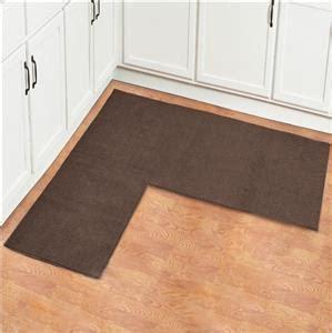 L Shaped Kitchen Rug by Brown Colored L Shaped Corner Area Rug Floor Runner