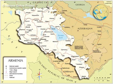 political map  armenia nations  project
