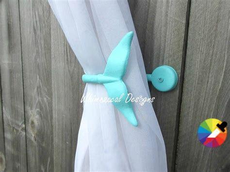 45 Custom Colors Whale Curtain Tie Cast Iron Whale Hook