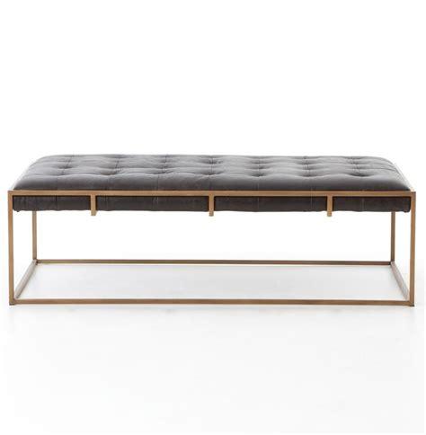 black leather ottoman coffee table 25 best ideas about leather ottoman coffee table on