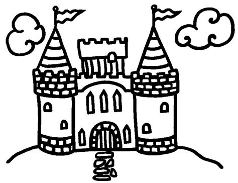 castle coloring pages getcoloringpagescom