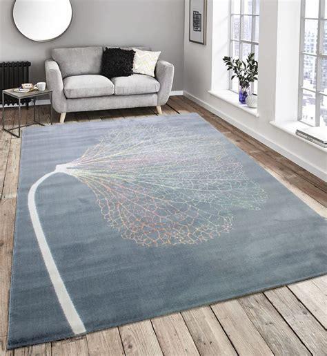 blue rug ebay touch modern stripes zig zag flowers grey teal