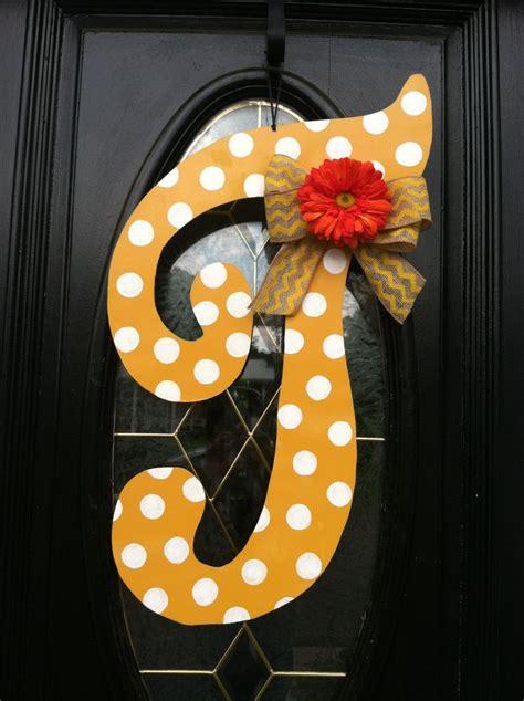 letter door hangers fancy letter t polka dot door hanger summer by