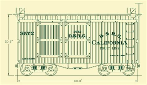 box auto dwg drgw 1887 narrow box car from roll models ind