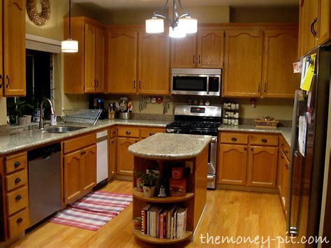 Restaining Oak Cabinets Darker by Staining Kitchen Cabinet Refresh Kitchen Kitchen