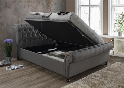 Ottoman In Front Of Bed by Birlea Furniture Side Ottoman Bed Crushed Velvet