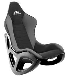 ak designs ak 100 rocker gaming chair gray black skin