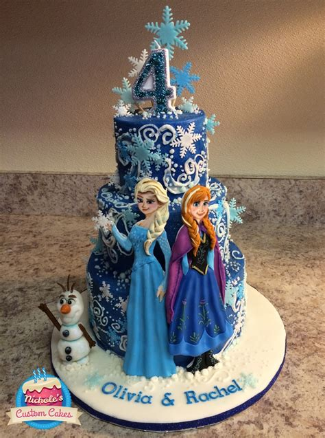 Frozen  Ee  Birthday Ee   Cake This Cakes Three Layers